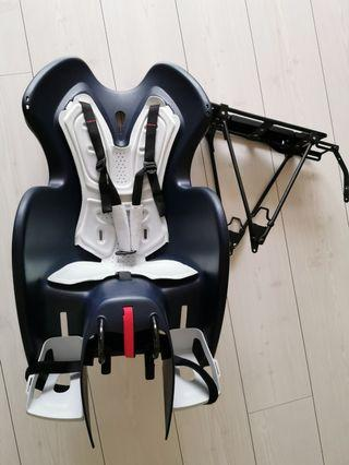 Decathlon bike pannier rack and child seat