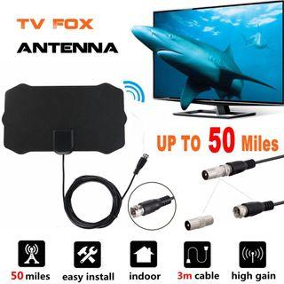 Rondaful 50 Mile 1080P Indoor Digital TV Antenna HDTV Antenna Receiver Amplifier