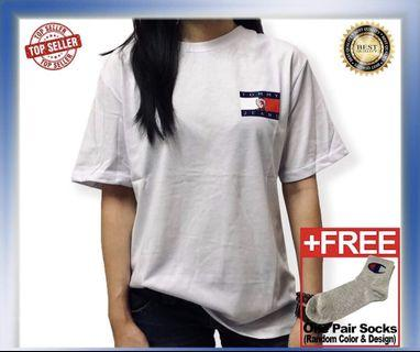 Ready Stock Unisex Tommy Hilfiger Tee White