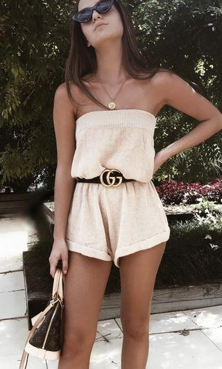 RUNWAY SCOUT // calabasas knit playsuit