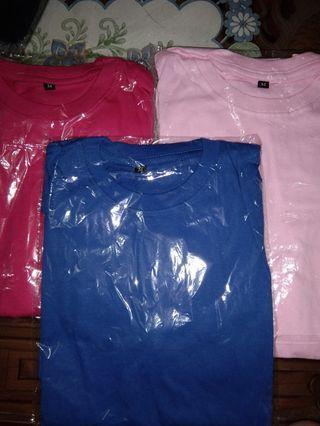 Obral 3 Kaos Polos (Pink Fanta , Biru Benhur , Pink Muda)