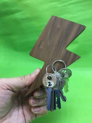 木製/閃電款/磁吸鎖匙收納條