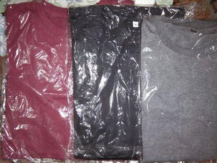Obral 3 Kaos Polos ( Merah Marron, Hitam, Abu Misty)