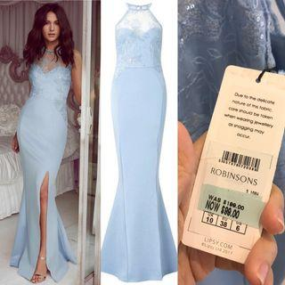 Lipsy Dusty Blue Formal Long dress