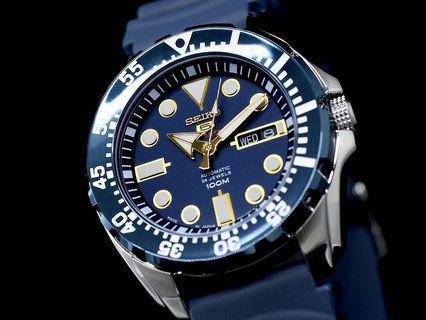 Seiko 5 MADE IN JAPAN 🇯🇵 SRP605J SRP605 Blue Gold with FREE DELIVERY 📦