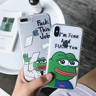 #3 & #4 - 100% NEW Cute Funny Pepe the Frog iPhone Case