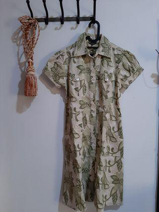 Green Korz Midi Dress