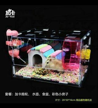 倉鼠寶寶透明超大别墅籠子: 適合金絲熊和倉鼠