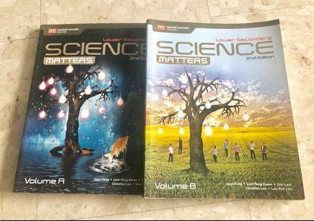 Lower Secondary Science Matters Textbooks