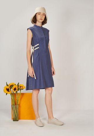 Genue Ivy Waist Tie Dress