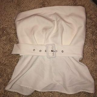 White belted Top