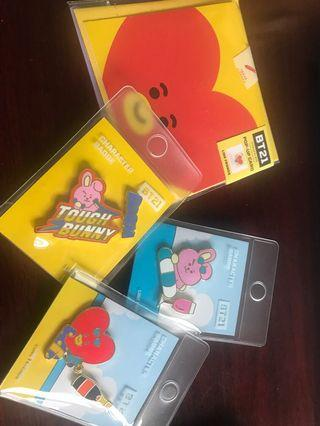 BT21 authentic card and pin
