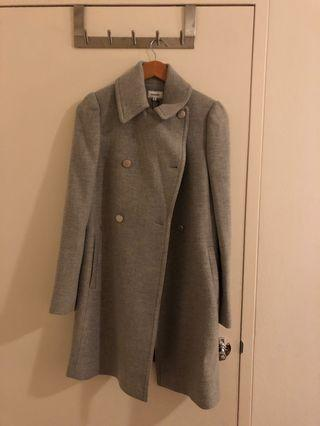 MARCS new grey / silver marle twill double coat size 10