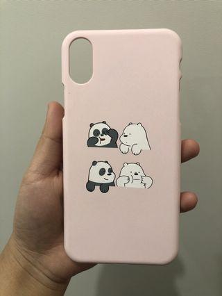 Cartoon litter bear iphone x case