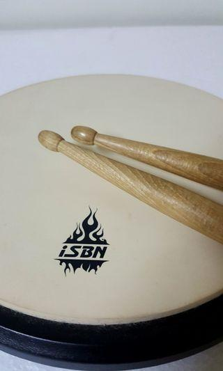 🚚 iSBN 8吋白色圓形打點板 + 附NOVA 5A爵士鼓棒