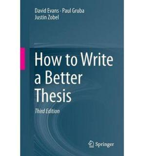 🚚 How to Write a Better Thesis