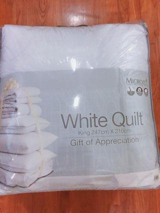 MICROXt Ultrafine Microfibre White Quilt