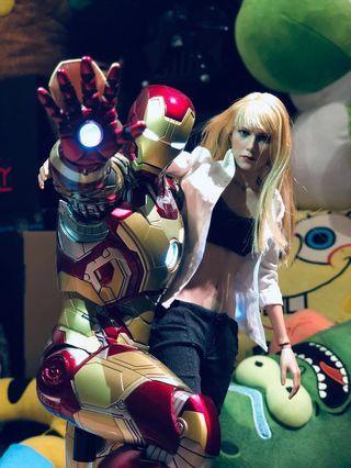 Hottoys Mark 42 XLII Power Pose (PPS 1/6) + Pepper Potts Iron Man 3