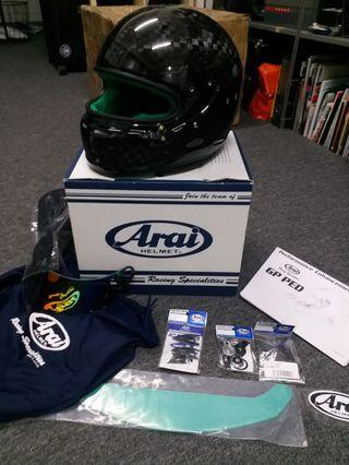 ARAI GP6-RC size xl car helmet complete with green interior