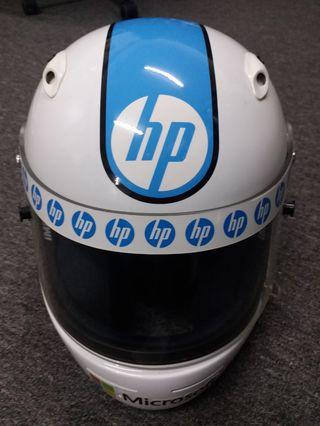 IMPACT RACING size xl custom painted helmet with autographs