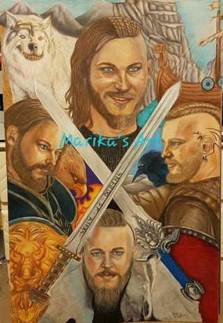 Original Artwork Ragnar/Anduin Lothar Compilation (Travis Fimmel)