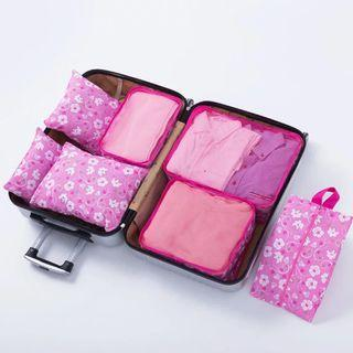🚚 Travel Luggage Organizer Packing Cubes,7 Pcs Travel Essential Bags in Bag, Waterproof