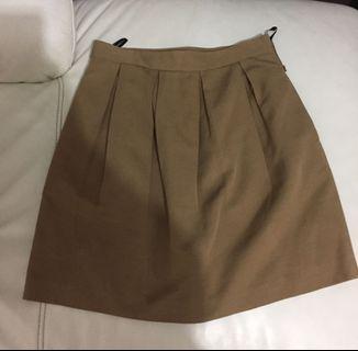 日本 Paul & Joe Sister 咖啡色 斯文裙 skirt UK 10 / EU 38