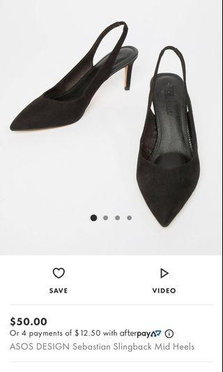 Asos black high heels