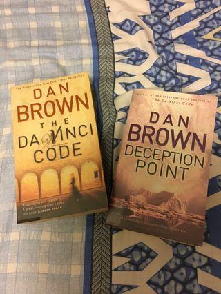 Dan Brown Da Vinci Code Deception Point 2 books