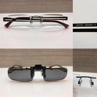 🚚 Pre♥️ Authentic Levi Eyewear c/w clip on sunglasses