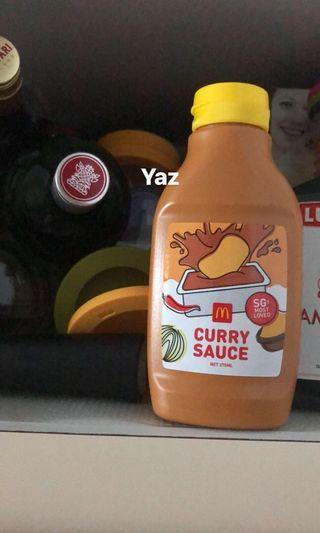 Mac Donald's curry sauce bottle
