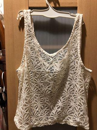 🚚 Lace lacy tank top vest