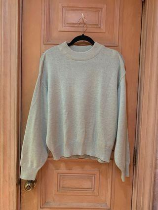 H&MSAGE GREEN SWEATER