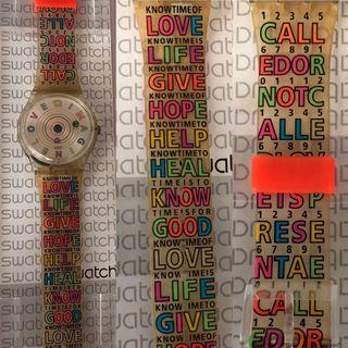 """🚚 Pre❤️ Authentic Swatch Watch c/w """"IMAGINE LOVE"""" watch face"""