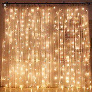 **RENTAL** fairy lights curtain backdrop