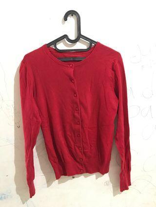 Red Cardigan - No Brand #mauthr
