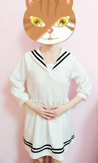 🚚 氣質水手服洋裝