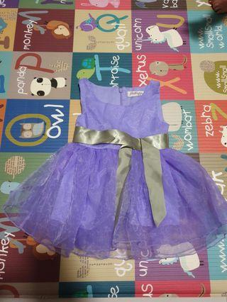 Baby Girl purple party Dress