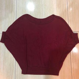 🚚 紅色罩衫