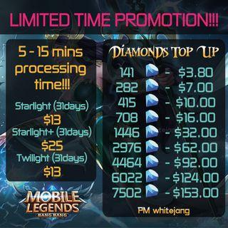 🚚 Mobile Legends Diamond Top Up