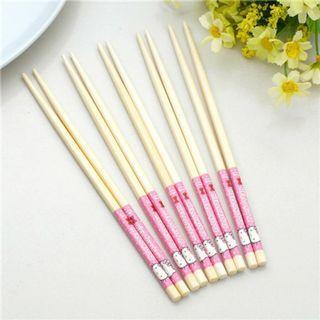 🥢🥢可愛hello kitty 竹筷🥢🥢$8一對$10兩對🥢🥢