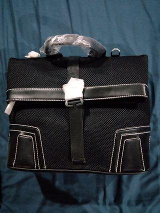 Charles and keith black net design backpack & sling bag
