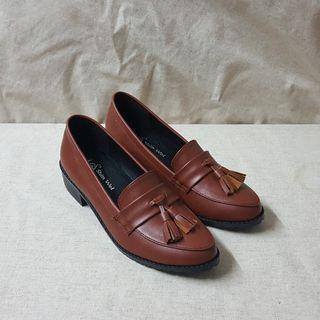 學院風俏皮流蘇小高度學生鞋