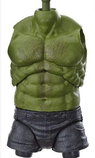 🚚 LOWEST PRICE IN CAROUSELL! VERY RARE & HOT! PRE ORDER LAST SET!! New Hasbro Marvel Legends Avengers Endgame Wave 2 Professor Hulk Chest / Torso and Left Leg BAF parts For SALE!!