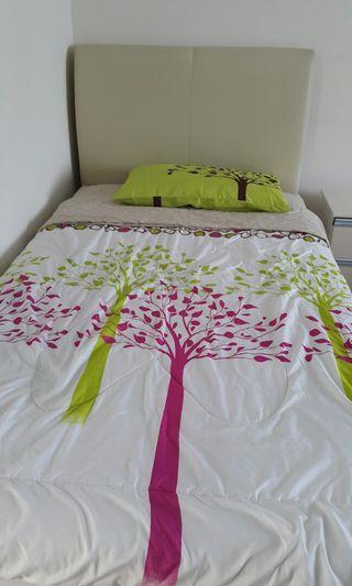 Super single bedframe and mattress