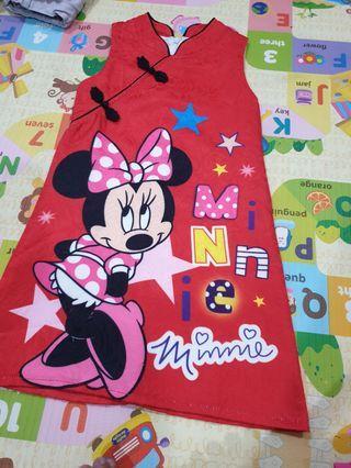 Minnie mouse sleeveless cheongsam/dress