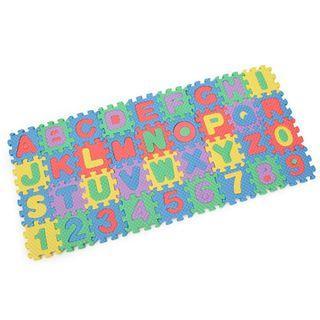 🚚 36pcs MINI playmat foam puzzle letters & numbers