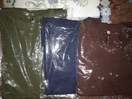 Obral 3 Kaos ( Hijau Army , Biru Navy, Coklat )