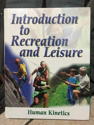 🚚 Introduction to Recreation and Leisure