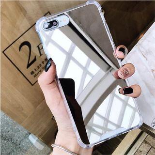 🚚 蘋果iPhone XS跟X專用手機殼!補妝鏡面手機套子iPhoneXS鏡面手機殼保護殼防摔套軟邊框